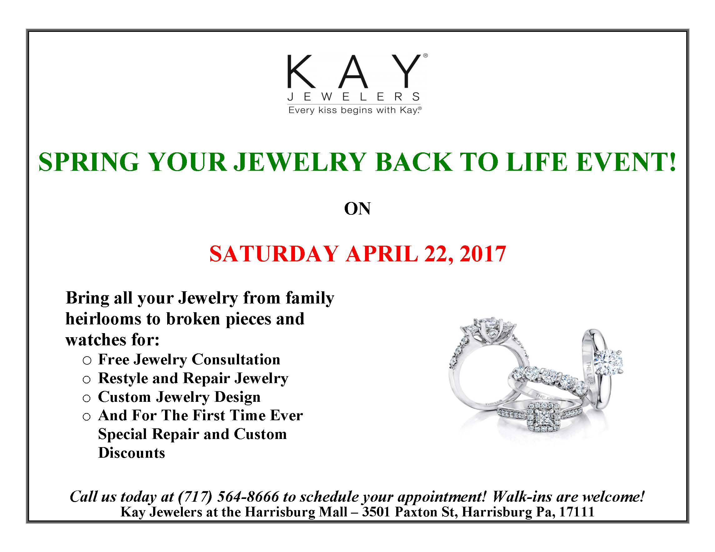 Kay Jewelers Jewelry Repair - Shop Harrisburg Mall