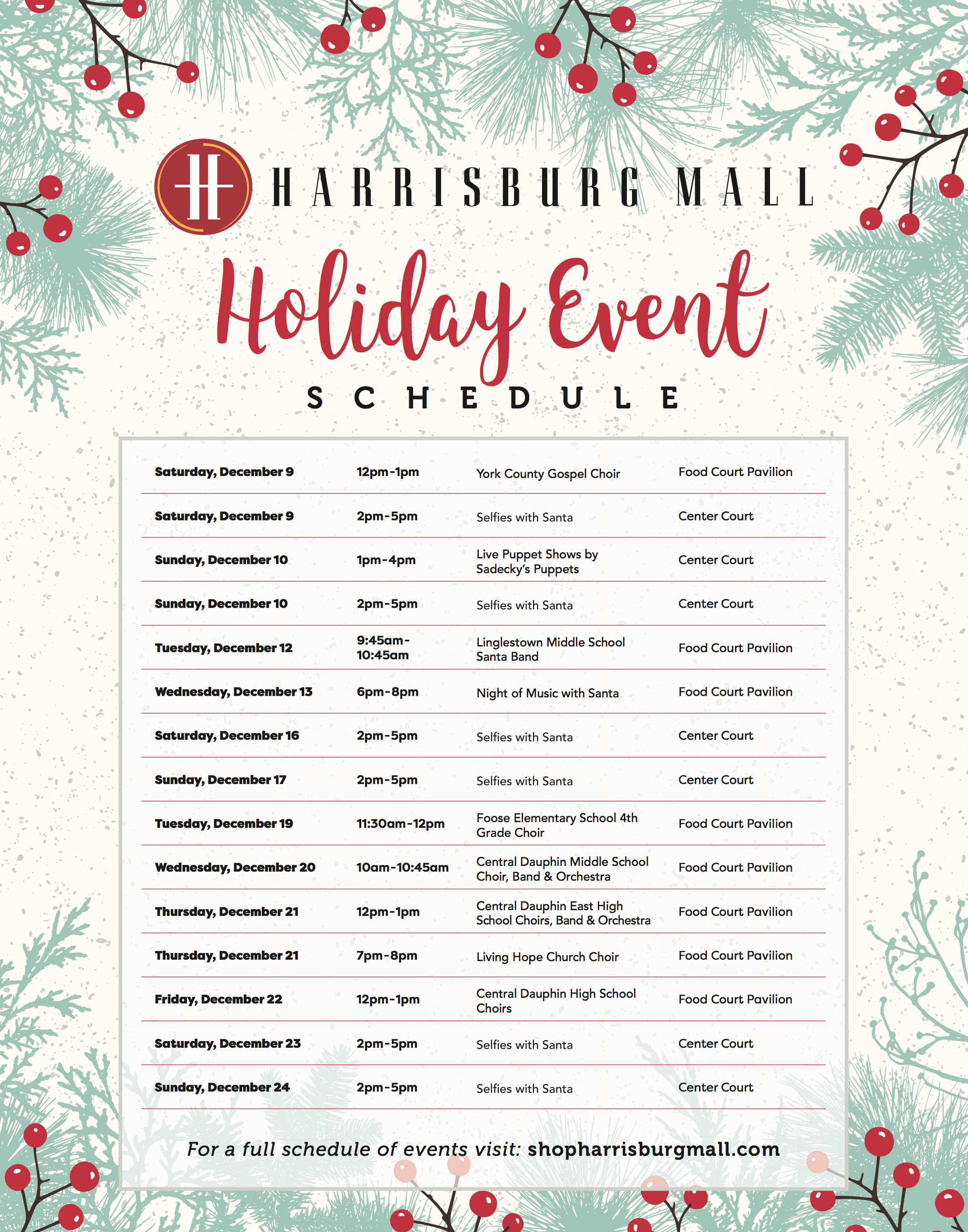 Harrisburg Mall Announces Holiday Events and Seasonal Retailers ...